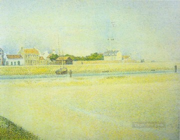 Georges Seurat Painting - the channel at gravelines grand fort philippe 1888