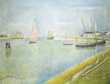 Georges Seurat Painting - the channel at gravelines in the direction of the sea 1890