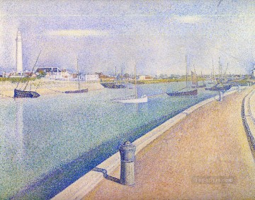 the channel of gravelines petit fort philippe 1890 Oil Paintings