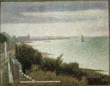 the english channel at grandcamp 1885 Oil Paintings
