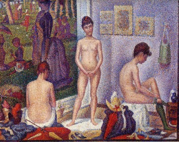 Georges Seurat Painting - the models 1888