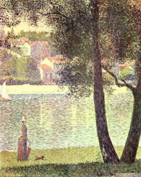 Georges Seurat Painting - the seine at courbevoie 1885