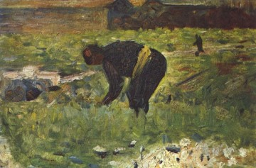 Georges Seurat Painting - farmer to work 1883