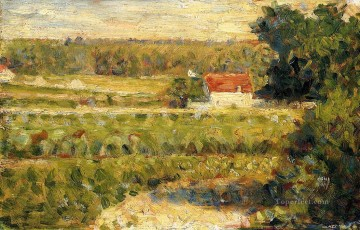 Georges Seurat Painting - house with red roof 1883