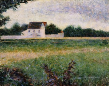Georges Seurat Painting - landscape in the ile de france 1882