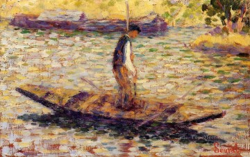 Georges Seurat Painting - riverman 1884