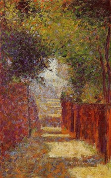 Georges Seurat Painting - rue st vincent in spring 1884