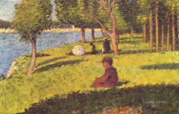Georges Seurat Painting - seated figures 1884