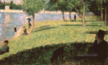 Georges Seurat Painting - study for la grande jatte 1885