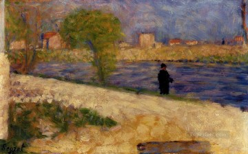 Georges Seurat Painting - study on the island 1884