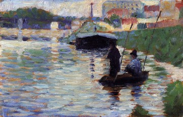 Georges Seurat Painting - the bridge view of the seine 1883