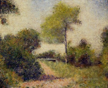 Georges Seurat Painting - the hedge also known as the clearing 1882