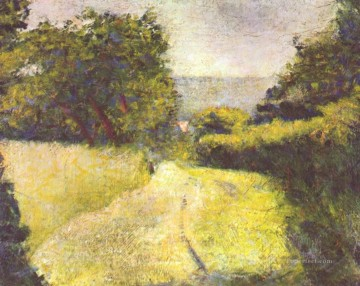 Georges Seurat Painting - the hollow way 1882