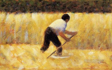 Georges Seurat Painting - the mower 1882 1