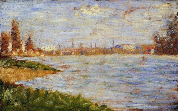 Georges Seurat Painting - the riverbanks 1883