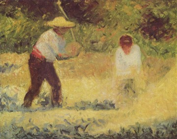 Georges Seurat Painting - the stone breaker 1884