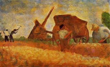 Georges Seurat Painting - the stone breakers 1883