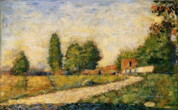 Georges Seurat Painting - village road 1883