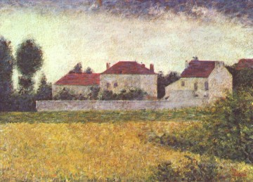 Georges Seurat Painting - white houses ville d avray 1882