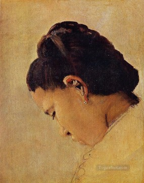 head of a girl 1879 Oil Paintings