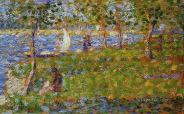 Georges Seurat Painting - sailboat 1884