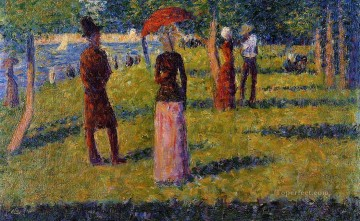 Georges Seurat Painting - the rope colored skirt 1884