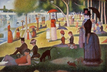 Georges Seurat Painting - sunday afternoon on the island of la grande jatte 1886