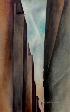 A Street Georgia Okeeffe American modernism Precisionism Oil Paintings