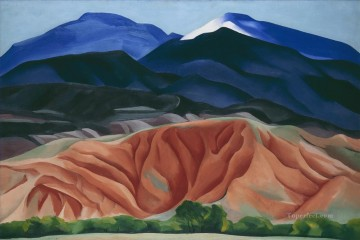 Black Mesa Landscape New Mexico Georgia Okeeffe American modernism Precisionism Oil Paintings