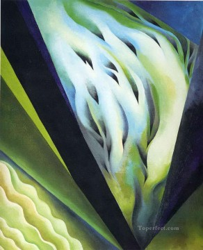 Blue and Green Music Georgia Okeeffe American modernism Precisionism Oil Paintings