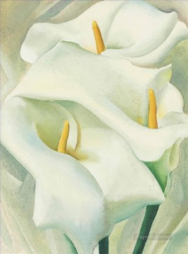 Calla Lilies Georgia Okeeffe American modernism Precisionism Oil Paintings