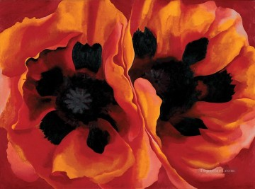 Poppies Canvas - Oriental Poppies Georgia Okeeffe American modernism Precisionism