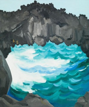black lava bridge hana coast no 1 Georgia Okeeffe American modernism Precisionism Oil Paintings