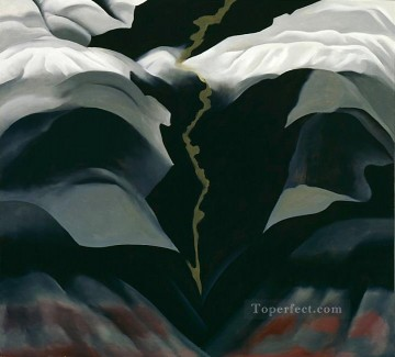 Artworks by 350 Famous Artists Painting - black place iii Georgia Okeeffe American modernism Precisionism