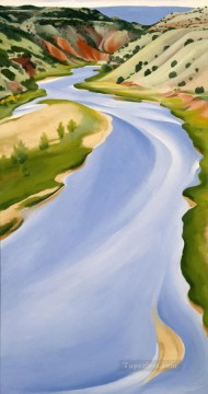 Charma River Ghost Ranch Georgia Okeeffe American modernism Precisionism Oil Paintings