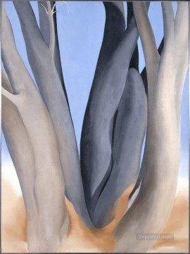 Dark Tree Trunks Georgia Okeeffe American modernism Precisionism Oil Paintings