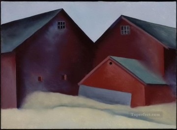Ends of Barns Georgia Okeeffe American modernism Precisionism Oil Paintings