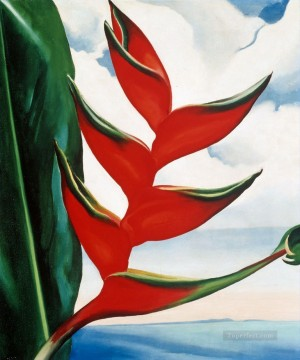 Artworks by 350 Famous Artists Painting - Heliconia crabs claw ginger Georgia Okeeffe American modernism Precisionism