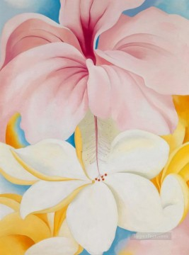 Hibiscus with plumeria Georgia Okeeffe American modernism Precisionism Oil Paintings