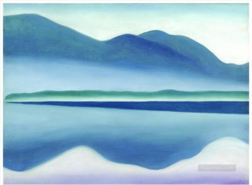 Lake George Georgia Okeeffe American modernism Precisionism Oil Paintings
