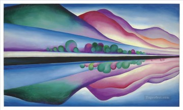 american - Lake George Reflection Georgia Okeeffe American modernism Precisionism
