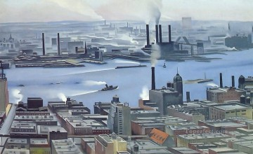 east river from the 30th story of the shelton hotel Georgia Okeeffe American modernism Precisionism Oil Paintings