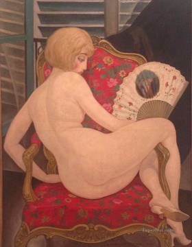 Danish Girl Lili in Chair Gerda Wegener Oil Paintings
