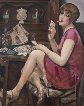 Gerda Wegener Painting - Queen of Hearts Gerda Wegener