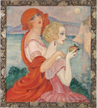 Sur la route dAnacapri Gerda Wegener Oil Paintings