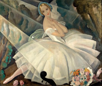 ballet Painting - The Ballerina Ulla Poulsen in the Ballet Chopiniana Gerda Wegener