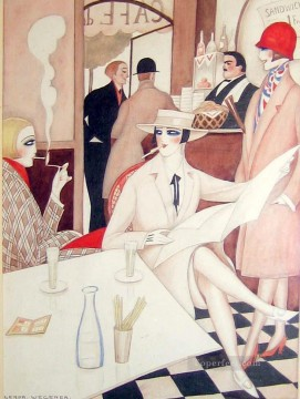 Cafe Gerda Wegener Oil Paintings