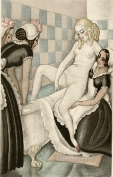 bath Gerda Wegener Oil Paintings