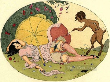 Les Delassements Sleeping 2 Gerda Wegener Oil Paintings