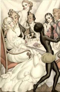 Gerda Wegener Painting - party Gerda Wegener